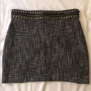 H&M Tweed Pencil Skirt With Zipper Size 8